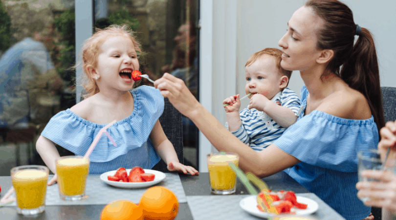 healthy family breakfast