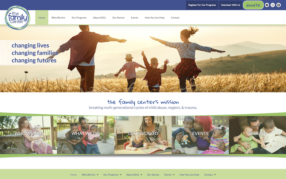 Website image of The Family Center of Tennessee